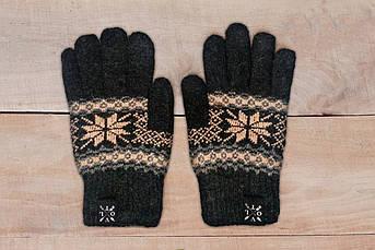 Рукавицы зимние VOLT bej . Перчатки с рисунком.