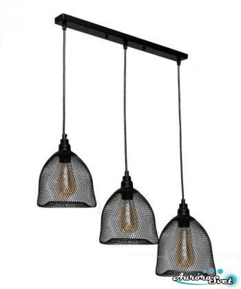 Люстра подвесная AuroraSvet loft 11400 чёрная.LED светильник люстра. Светодиодный светильник люстра.