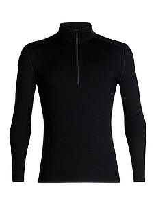 Термофутболка мужская Icebreaker 260 Tech Long Sleeve Half Zip Black M (104 372 001 M)