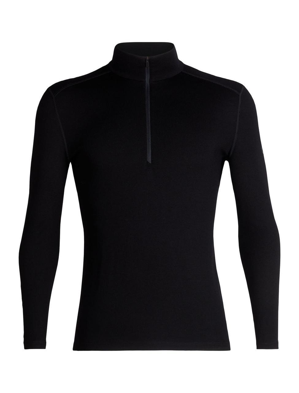 Термофутболка мужская Icebreaker 260 Tech Long Sleeve Half Zip Black L (104 372 001 L)