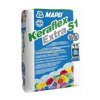 Клей для плитки и камня Keraflex Extra S1/ Серый ТМ MAPEI 25кг