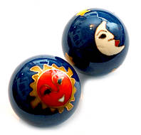 9290013 Массажные шары Баодинга в эмали Солнце + Луна