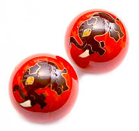 9290013 Массажные шары Баодинга в эмали Слоник