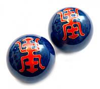 9290008 Массажные шары Баодинга в эмали Двойное счастье