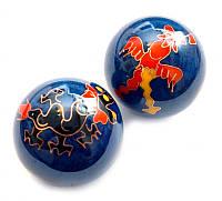 9290008 Массажные шары Баодинга в эмали Дракон + Феникс