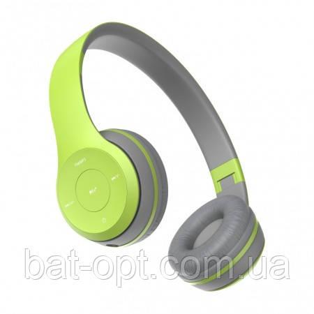 Беспроводные наушники Havit HV-H2575BT с микрофоном серо-зеленые