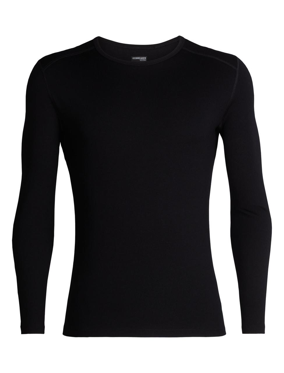 Термофутболка мужская Icebreaker 260 Tech Long Sleeve Crewe Black M (104 371 001 M)