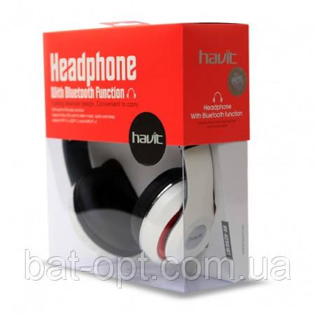 Беспроводные наушники Bluetooth Havit HV-H2561BT с микрофоном белые