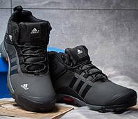 645ef2f7 Мужские ботинки зимние Adidas Climaproof, нубук, внутри мех, темно-серые,  Адидас