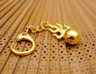 9180025 Брелок в золотом цвете Шар Кшитигарбхи