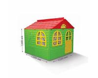 Пластиковый игровой детский садовый домик 129*129см, Doloni, дитячий будинок