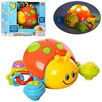 Развивающая музыкальная игрушка для малышей Божья коровка Play Smart, светится, музыка, сказки, 7580