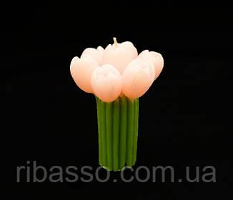 """9060090 Свеча """"Букет Тюльпаны"""" розовые"""