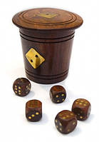 9100011 Игра 5 игральных кубиков в стаканчике 8х7х7см. Арт.276