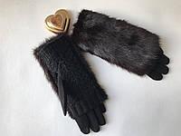 Перчатки с натуральным мехом норка!