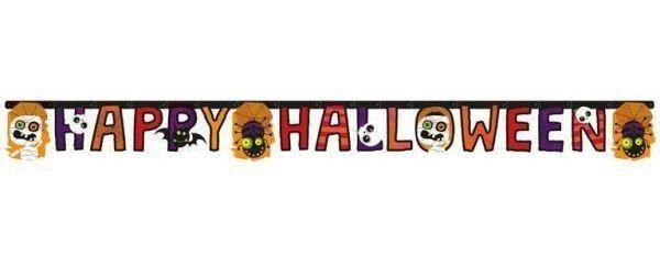 Гирлянда Наppy Halloween Хеллоуин Пауки, тыквы и черепа, 180 см, фото 2