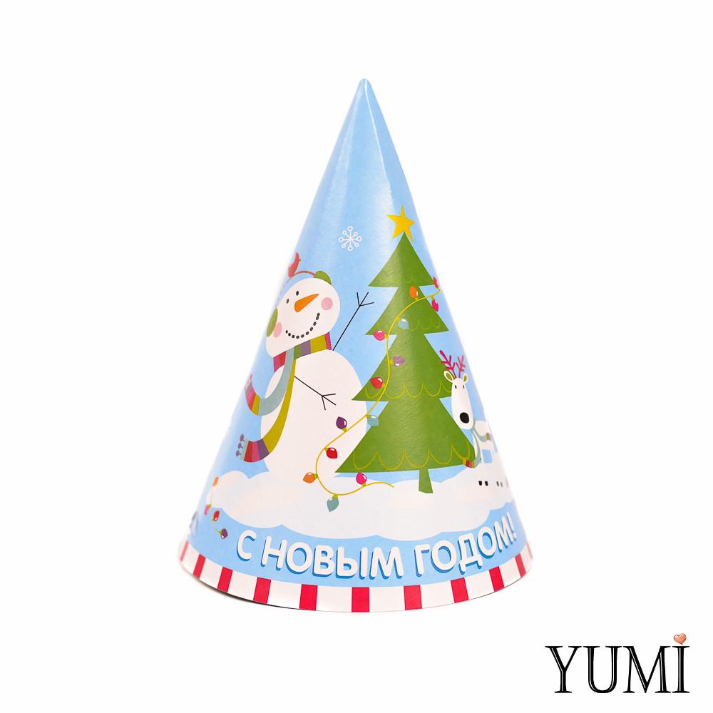 Колпак С Новым Годом Снеговик с елкой