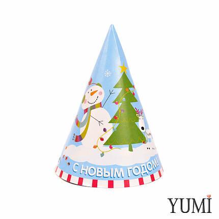 Колпак С Новым Годом Снеговик с елкой, фото 2
