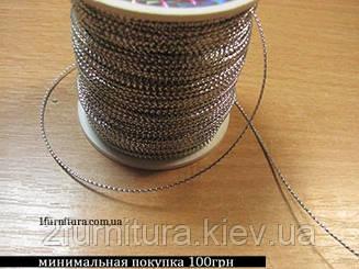Шнур тонкий декоративный 100м (СЕРЕБРО)