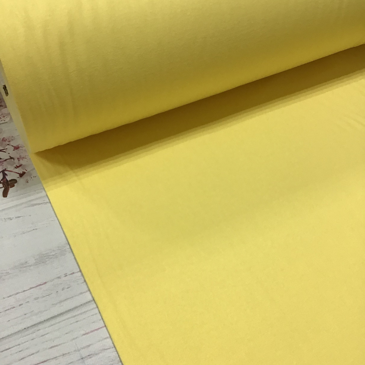 Фланелевая ткань желтая однотонная (шир. 2,4 м)