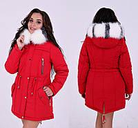 641a4a364 Стильная модная теплая куртка парка недорого капюшон с мехом новинка 2018/2019  размер 42-