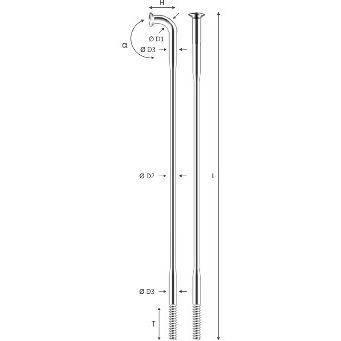 Спица 276mm 14G Pillar PSR Standard, материал нержав. сталь Sandvic Т302+ серебристая (144шт в упаковке), фото 2