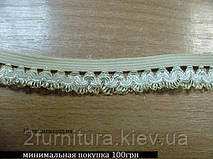 Резинка декоративная (15мм) 10м (СВЕТЛО-БЕЖЕВЫЙ)