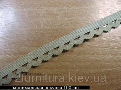 Резинка декоративная (12мм) 10м (ТЕМНО-БЕЖЕВЫЙ)