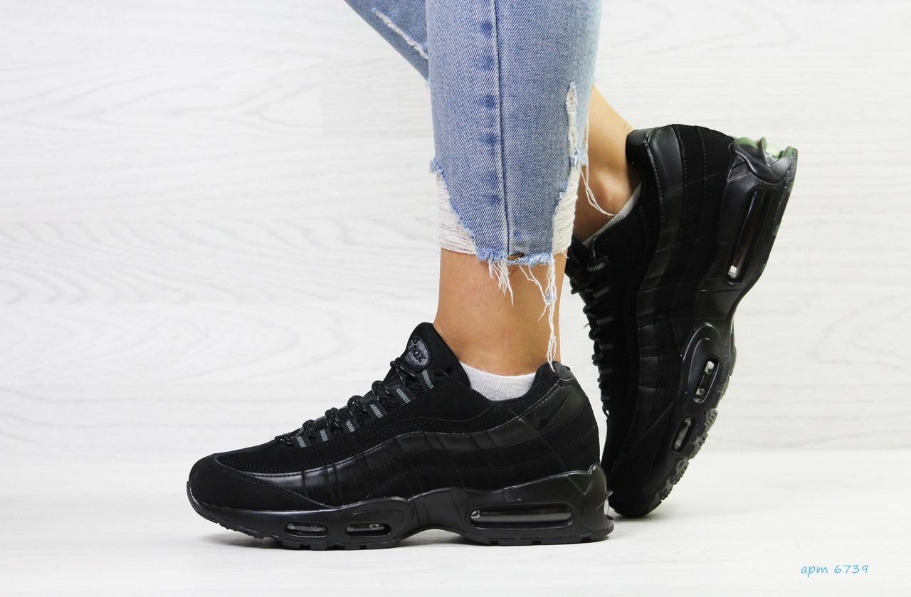 169283322 Я в шоке!™   Женские кроссовки на зиму черные Nike 95 6739. Цена ...