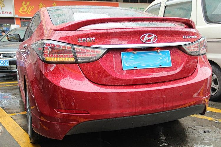 Диодные фонари Led тюнинг оптика Hyundai Elantra MD тонированные стиль ауди