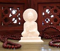 9170057 Статуэтка белый мрамор Будда