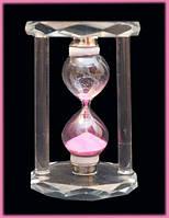 9290103 Песочные часы в стеклянном корпусе Розовый песок