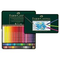 Акварельные цветные карандаши Faber-Castell A.Duerer 120 цветов в металлической коробке 117511 (15514), фото 1