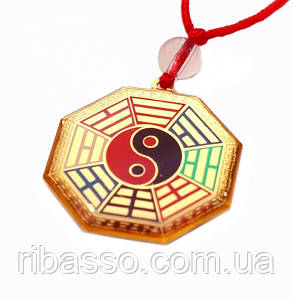 9290005 Амулет Буддийский в пластике на шнурке Багуа