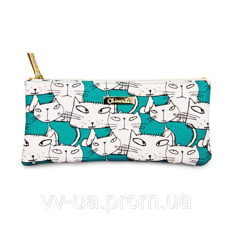 Косметичка-пенал Сhicardi Cats (Emerald)