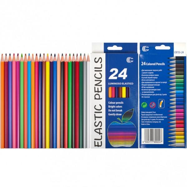 Карандаш 24 цвета Luminoso elastico «С»