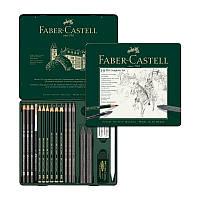 Набор графита Faber-Castell Pitt 19 предметов в металлической коробке 112973 (25581)