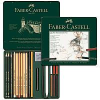 Набор графита Faber-Castell Pitt Monochrome 21 предметов в металлической коробке 112976 (25584)
