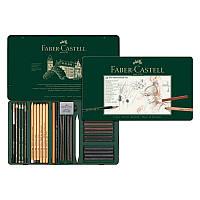 Набор графита Faber-Castell Pitt Monochrome 33 предметов в металлической коробке 112977 (25585)