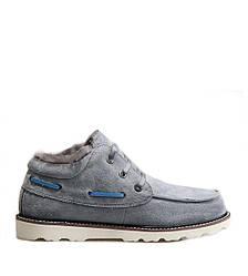 Оригинальные ботинки мужские UGG David Beckham Lace Grey - короткие угги, серые, Зима