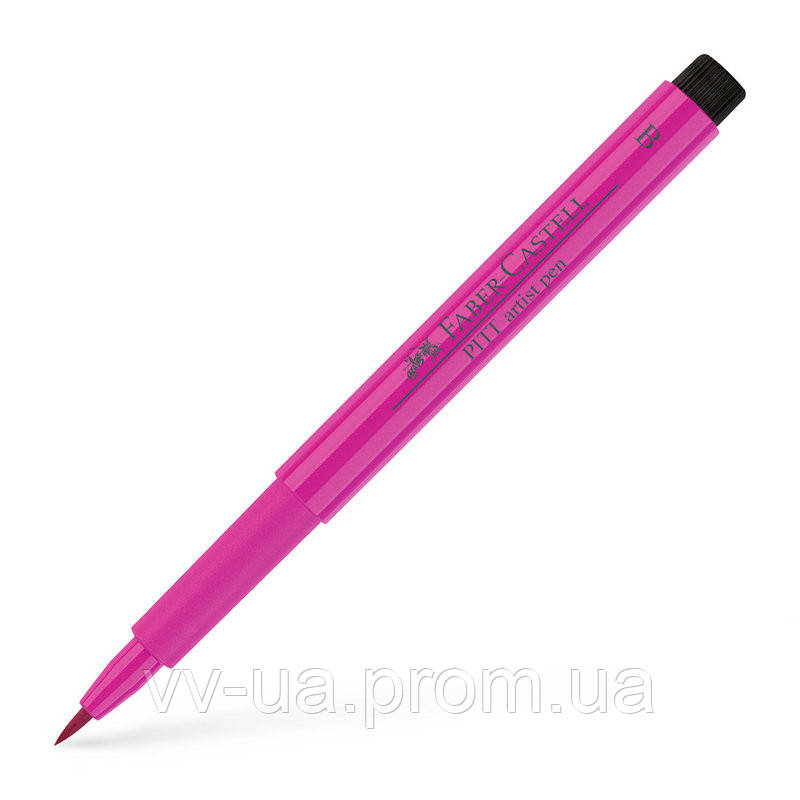 Ручка Faber-Castell PITT, B, пурпурно-розовый 167425