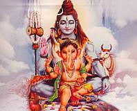 9140056 Картина со светодиодами Шива с Ганешей №1