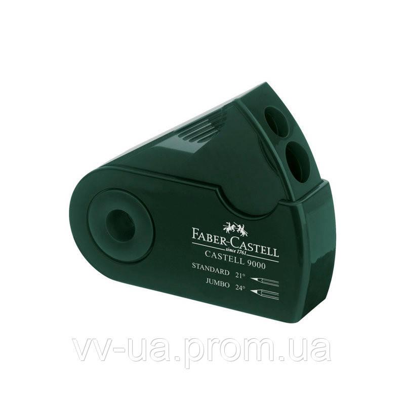 Точилка Faber-Castell Sleeve зеленая в чехле 582800 (27083)