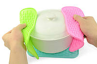 Силиконовый коврик для сушки посуды 21Х15 см (салатовый)