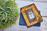 """Серебристая Зажигалка """"Часы с подсветкой"""" в подарочной коробочке, фото 1"""