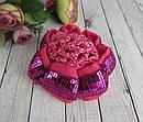 Плотная сеточка на гульку (для пучка) с пайетками цветная 12 шт/уп, фото 4