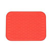 Силиконовый коврик для сушки посуды 21Х15 см (красный)