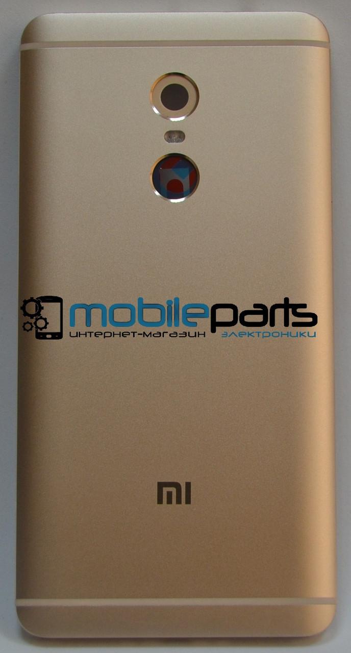 Оригинальная задняя панель (крышка) для Xiaomi RedMi Note 4 (с отверстием под болты) (Золотая)