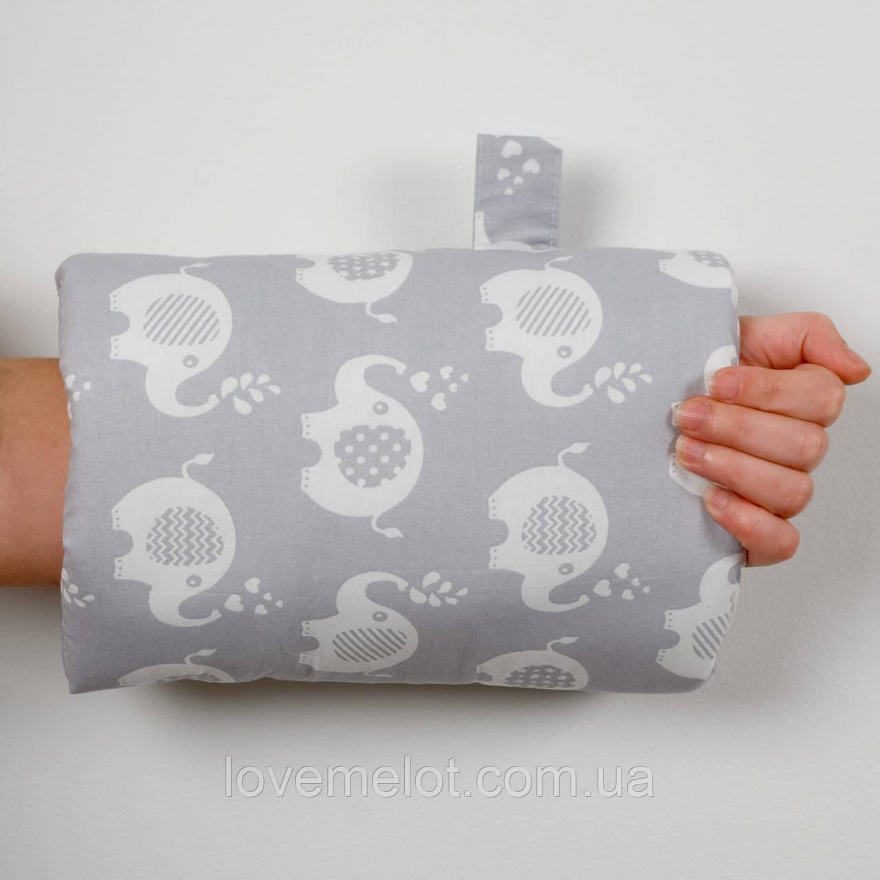 """Подушка для годування малюка, подушка муфта на руку """"Слоник"""""""