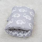 """Подушка для годування малюка, подушка муфта на руку """"Слоник"""", фото 3"""